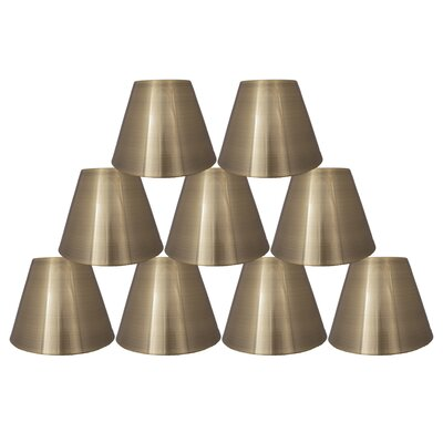6 Metal Bell Lamp Shade Finish: Antique Brass