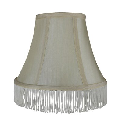 Fringe 6 Silk Bell Lamp Shade Color: Cream with Cream Fringe