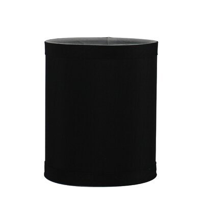 4 Faux Silk Drum Candelabra Shade Color: Black