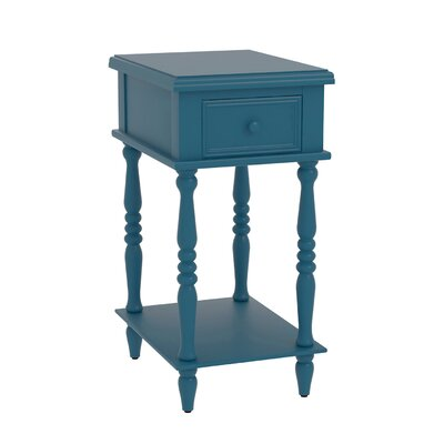 Christopherso Accent End Table Finish: Blue