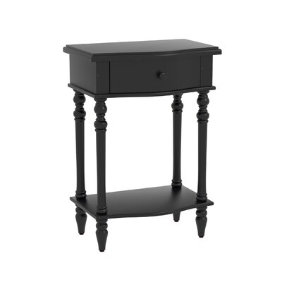 Claiborne Accent End Table Finish: Black