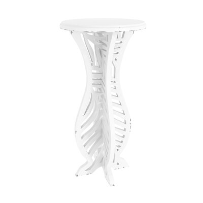 Meador Decorative Accent End Table Finish: Off White