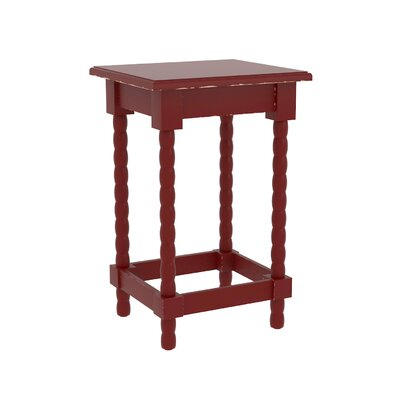 Barnard Accent End Table Finish: Red
