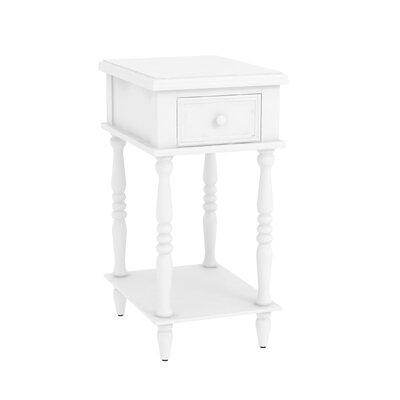 Christopherso Accent End Table Color: Off White