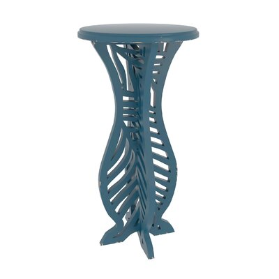 Meador Decorative Accent End Table Finish: Blue