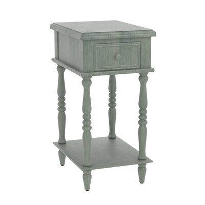 Christopherso Accent End Table Finish: Dark Green