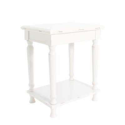 Ashford Accent End Table Finish: Off White