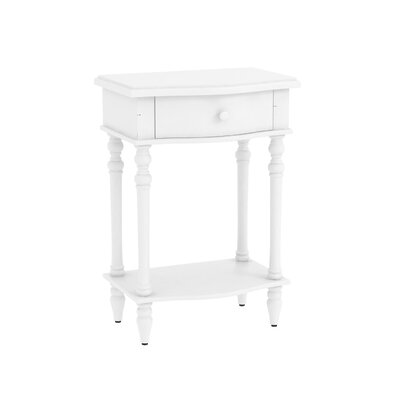 Claiborne Accent End Table Finish: Off White