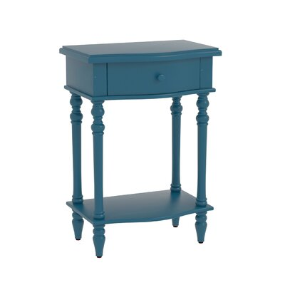 Claiborne Accent End Table Color: Blue