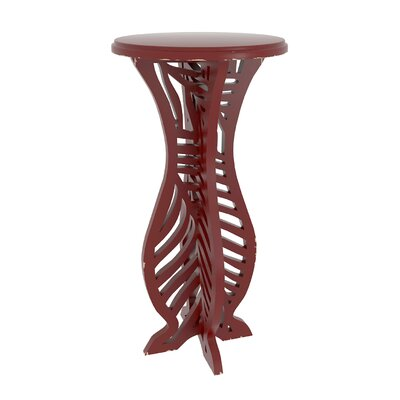 Meador Decorative Accent End Table Finish: Red