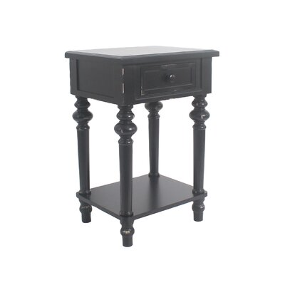 Cedarville Accent End Table Color: Black