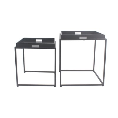 Vamyr 2 Piece Nesting Tables Color: Black