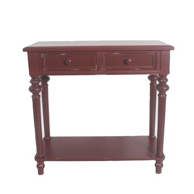 Cedarvale Accent End Table Color: Red