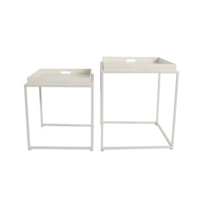 Vamyr 2 Piece Nesting Tables Color: Off White