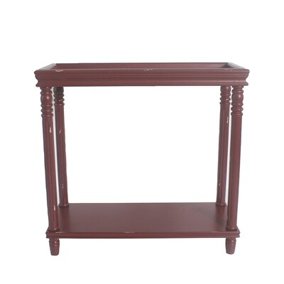 Cedarton Accent End Table Color: Red