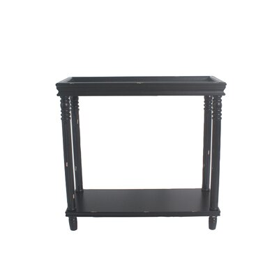 Cedarton Accent End Table Color: Black