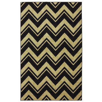 Isabella Black/Yellow Area Rug Rug Size: 8 x 10