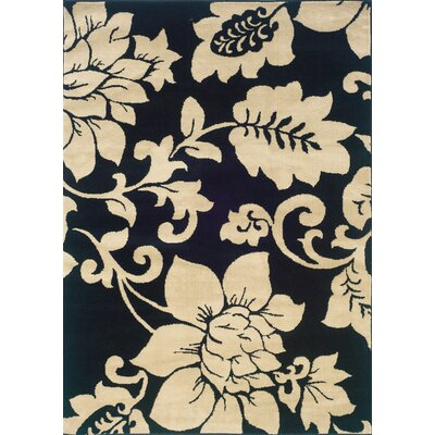 Albrightsville Black/Ivory Area Rug Rug Size: Rectangle 5 x 73