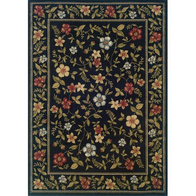 Albrightsville Black/Green Area Rug Rug Size: Rectangle 32 x 55