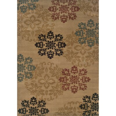 Gannaway Gold/Red Area Rug Rug Size: 32 x 55
