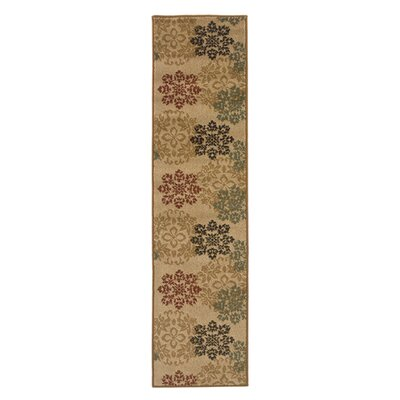 Gannaway Gold/Red Area Rug Rug Size: Runner 110 x 73