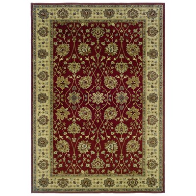 Midland Red/Beige Area Rug Rug Size: Rectangle 5 x 76