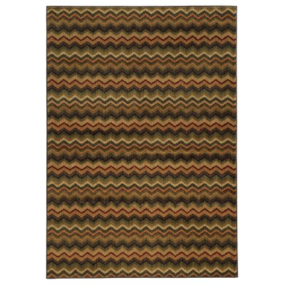 Columbia Brown/Area Area Rug Rug Size: 33 x 55