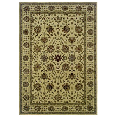 Midland Beige/Green Area Rug Rug Size: Rectangle 110 x 210