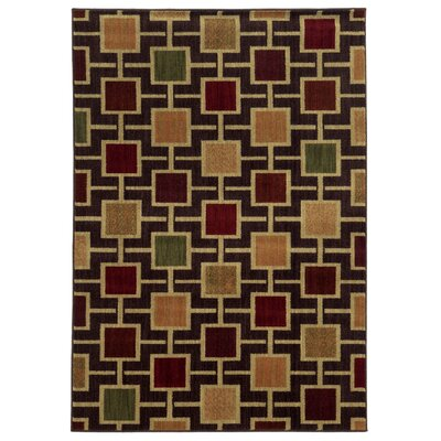 Columbia Brown/Beige Area Rug Rug Size: 67 x 93