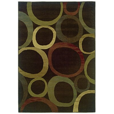 Midland Brown/Beige Area Rug Rug Size: Runner 110 x 76