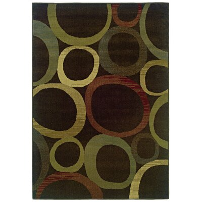 Midland Brown/Beige Area Rug Rug Size: Rectangle 5 x 76