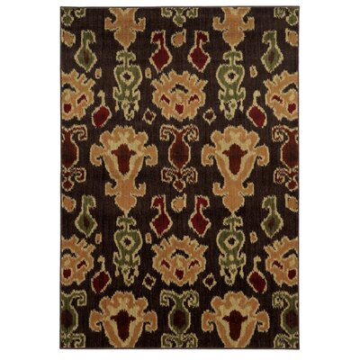 Columbia Brown/Gold Area Rug Rug Size: 67 x 93