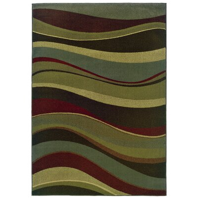 Midland Beige/Green Area Rug Rug Size: Rectangle 5 x 76