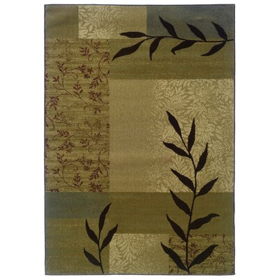 Midland Gold/Beige Area Rug Rug Size: Rectangle 5 x 76