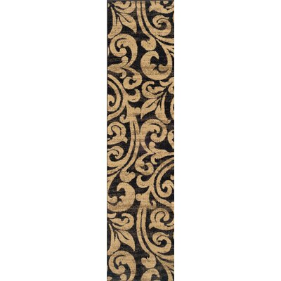 Bienville Black/Gold Area Rug Rug Size: Rectangle 67 x 96