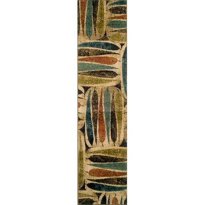 Lyonsdale Ivory/Brown Area Rug Rug Size: Runner 110 x 76