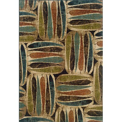 Lyonsdale Ivory/Brown Area Rug Rug Size: 5 x 76