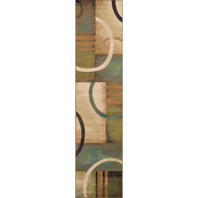 Bienville Brown/Gold Area Rug Rug Size: Runner 110 x 76