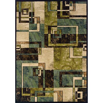 Bienville Beige/Blue Area Rug Rug Size: Rectangle 67 x 96