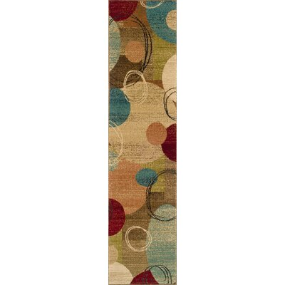Bienville Woven Gold/Brown Area Rug Rug Size: Runner 11 x 76