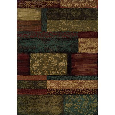 Bienville Woven Brown/Teal Area Rug Rug Size: Rectangle 310 x 55