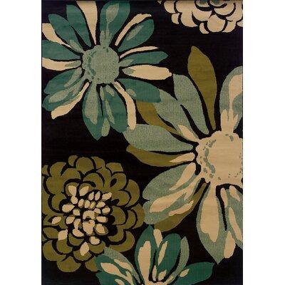 Bienville Teal/Ivory Area Rug Rug Size: 110 x 33