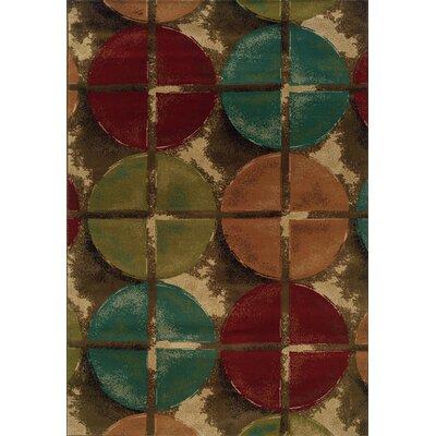 Lyonsdale Brown/Teal Area Rug Rug Size: 5 x 76