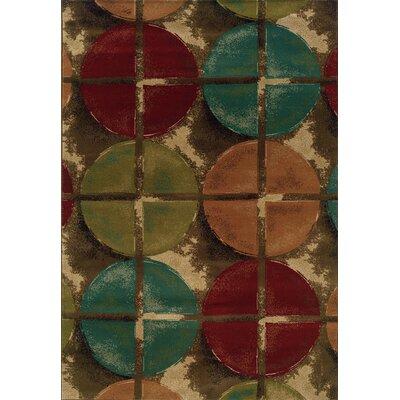 Lyonsdale Brown/Teal Area Rug Rug Size: 10 x 13