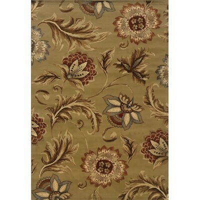 Harper Tan/Gold Area Rug Rug Size: Runner 110 x 73