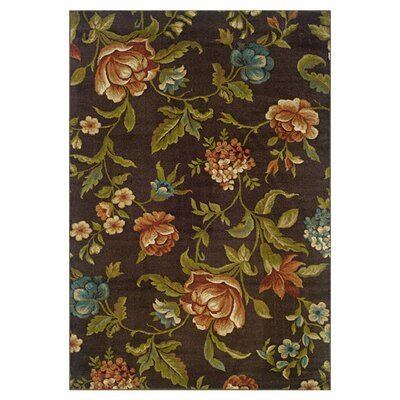 Lyonsdale Brown/Green Area Rug Rug Size: 67 x 96
