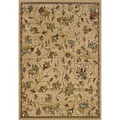 Bienville Gold/Brown Area Rug Rug Size: Rectangle 5 x 76