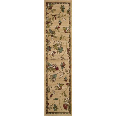 Bienville Gold/Brown Area Rug Rug Size: Runner 110 x 76