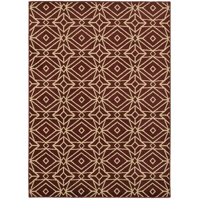 Sheridan Red/Ivory Area Rug Rug Size: 67 x 93