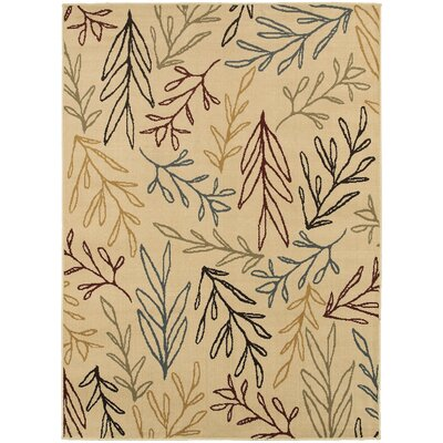 Sheridan Ivory/Multi Area Rug Rug Size: Rectangle 33 x 55
